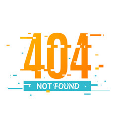 404 not found concept glitch style vector