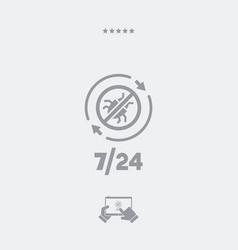 Antivirus service 247 - minimal icon vector