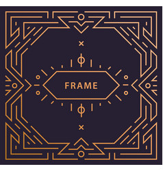 art deco linear frame with space for text vector image
