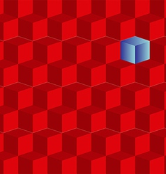 Background of red cubes vector