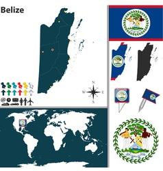 Belize map vector