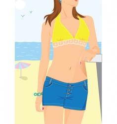 Bikini babe vector