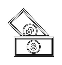 Bills dollars isolated icon design vector