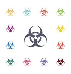 bio hazard flat icons set vector image
