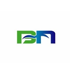 BN company linked letter logo vector image