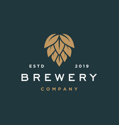 Brewery logo hipster retro vintage label vector