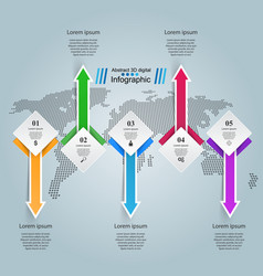 Business maps infographics origami style vector
