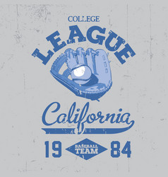california college league poster vector image