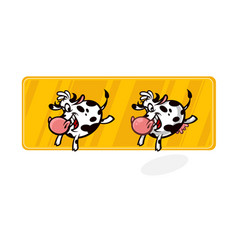 cartoon cow in a flat style isolated on white vector image