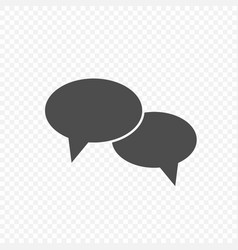 chat bubble speech icon vector image