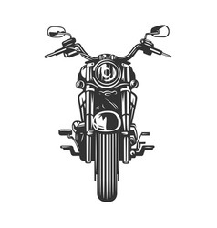 chopper motorcycle front view isolated on white vector image