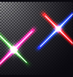 crossed light swords vector image