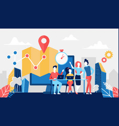 Delivery logistic service concept with logistician vector