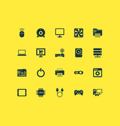 digital icons set with joystick application wifi vector image