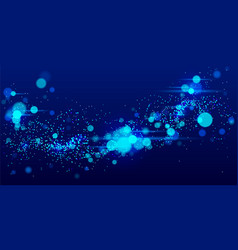 dots particles flowing array abstract background vector image
