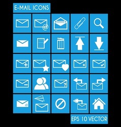 E-mail Icon Set vector image