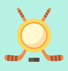Empty Hockey Emblem vector image