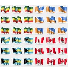 Ethiopia Tierra del Fuego Province Bahamas Canada vector