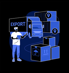export control abstract concept vector image