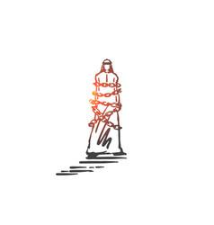 Financial debt obligation concept sketch hand vector