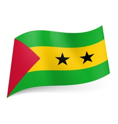 Flags icon Sao Tome and Principe 01 vector image