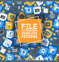 flat style icon set seamless pattern vector image