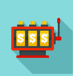fortune slot machine icon flat style vector image