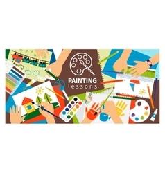 Handmade creative kids banner vector
