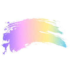 Holographic color paint brush vector