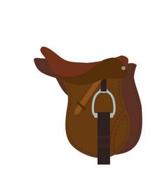 Horse riding equipment vector