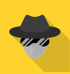 incognito net surfer icon flat style vector image
