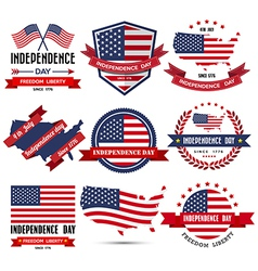 Independence day badge and label vector