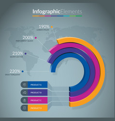 infographic chart template vector image
