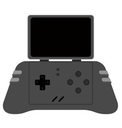 isolated mobile videogame console icon vector image