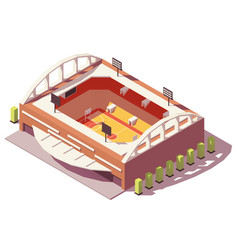 isometric low poly basketball stadium vector image