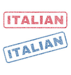 Italian textile stamps vector