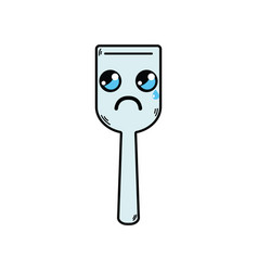 Kawaii cute crying kitchen utensil vector