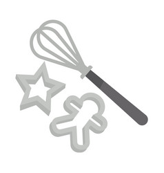 Kitchen tools set for delicious christmas vector