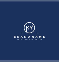 Letter ky logo design vector