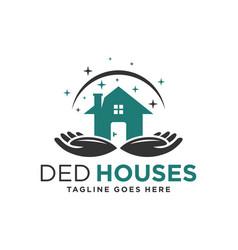 logo an orphanage or nursing home vector image