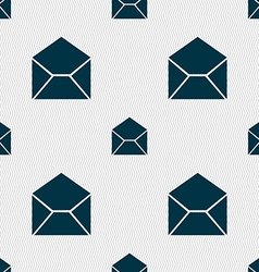 Mail envelope icon sign Seamless pattern with vector
