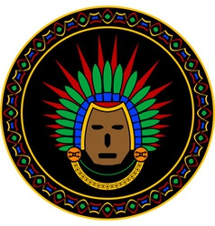 mayan mask vector image