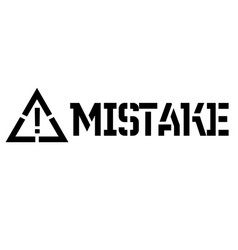 Mistake label on white vector