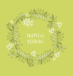 modern floral design with tropical leaves vector image