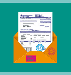 paper mail envelope with tax declaration vector image