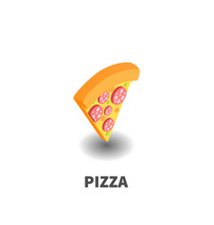 pizza icon symbol vector image