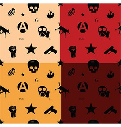 Protest seamless pattern in colors vector