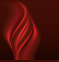 Red silk abstract background smooth satin swirl vector