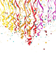 Ribbons with Confetti vector image