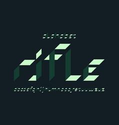 Rifle font alphabet vector